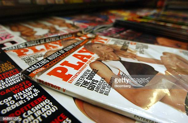 Playboy magazine featuring an article on Google is seen at a newsstand in Manhattan New York on Friday August 13 2004 Google Inc the world's mostused...