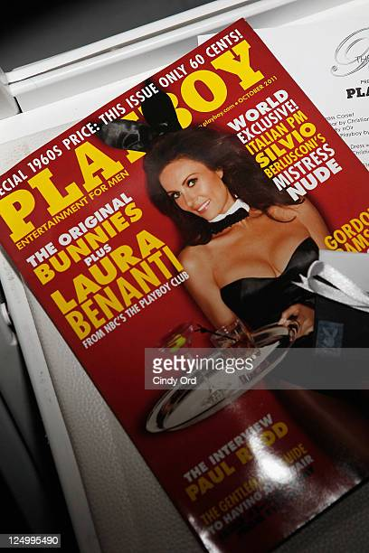 Playboy magazine on seat at the The Blonds Spring 2012 fashion show during MercedesBenz Fashion Week at Center 548 on September 14 2011 in New York...
