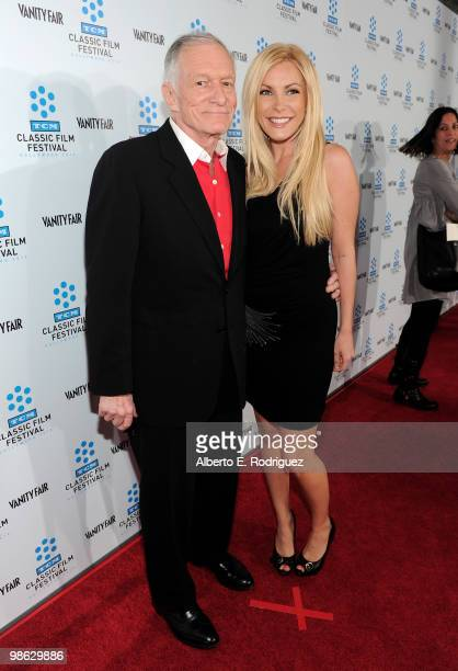 Playboy Magazine owner Hugh Hefner and Crystal Harris arrives at the TCM Classic Film Festival's gala opening night world premiere of the newly...