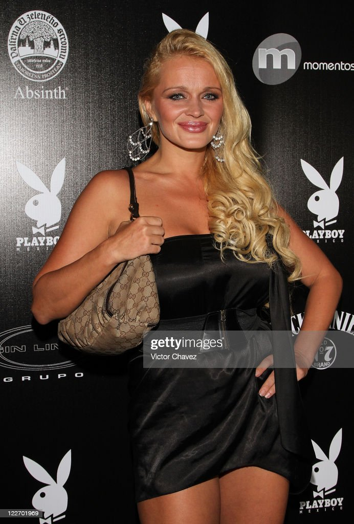 Playboy Mexico playmate Silvia Pleskova attends the Playboy Mexico magazine party at Lomas de Chapultepec on August 27, 2011 in Mexico City, Mexico.