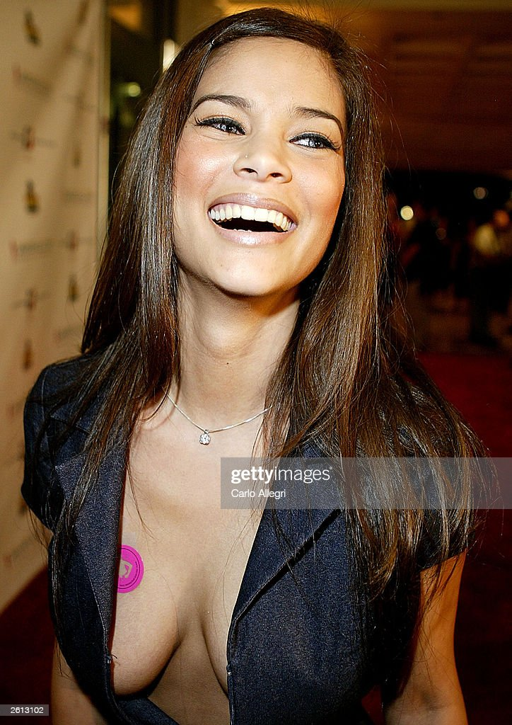 Playboy Model Anne-Marie Gan arrives for Carmen Electra's Aerobic Striptease DVD Launch Party October 17, 2003 in Santa Monica, California.