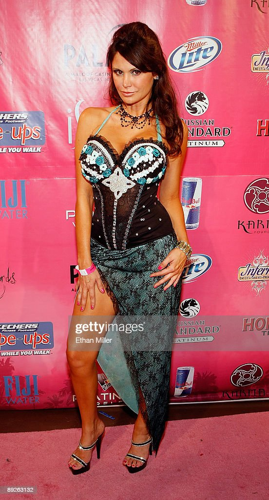 Playboy model Jennifer Cantrell arrives at the Kandy Vegas lingerie party at the Palms Casino Resort July 25, 2009 in Las Vegas, Nevada.