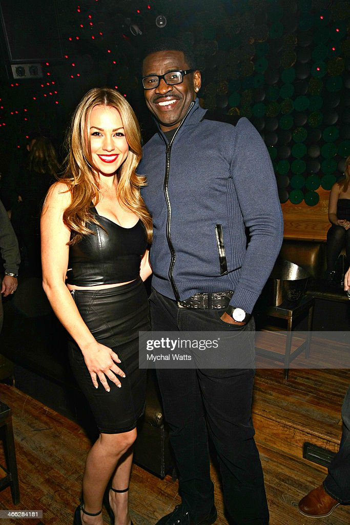 Playboy Model Jessica Hall and NFL Hall of Fame Player Michael Irvin attends the 2014 Jocks And Jills Party at Greenhouse on January 31, 2014 in New York City.