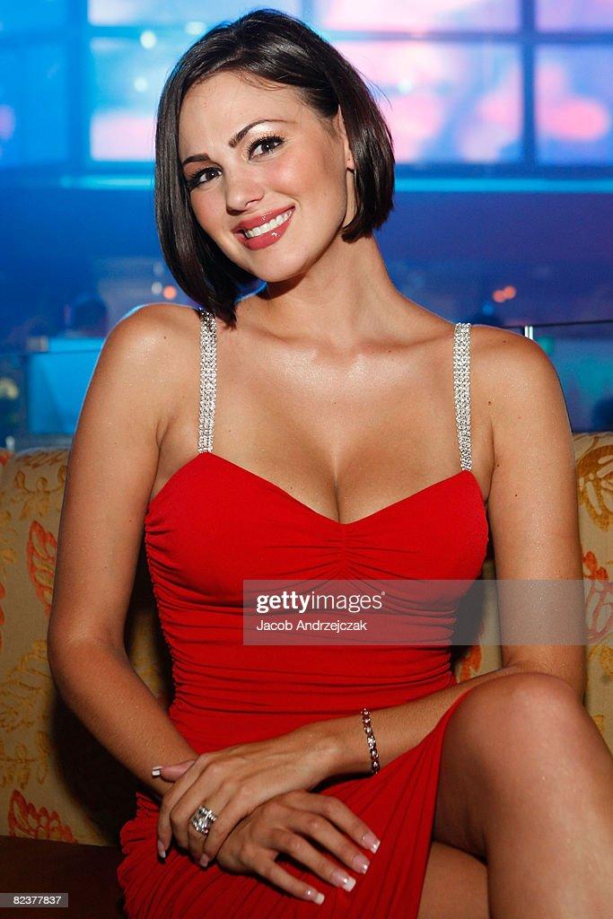 Playboy model Sara Stokes arrives at Hawaiian Tropic Zone's 'Torrid' Nightclub at the Planet Hollywood Resort & Casino on August 15, 2008 in Las Vegas, Nevada.
