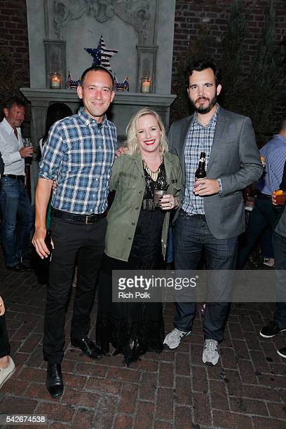 Playboy Photo Director Rebecca Black VICE Los Angeles Bureau Chief Ky Henderson celebrate the release of Playboy magazine's 'The Freedom Issue' at No...