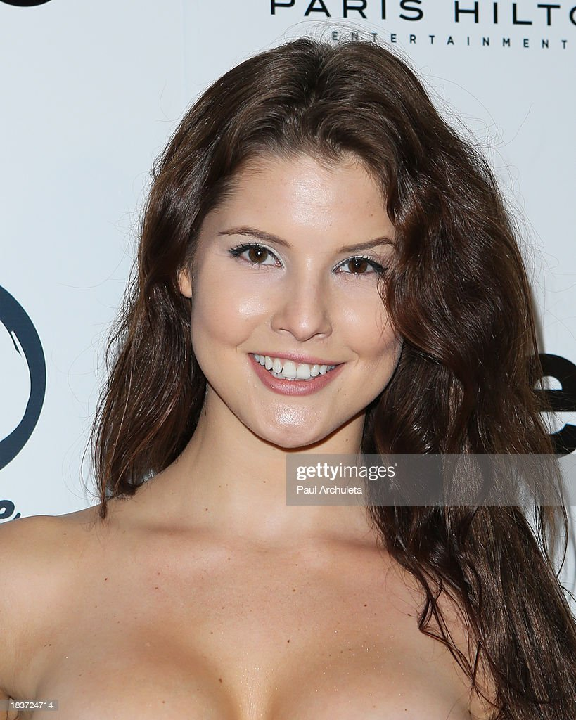 Playboy Playmate <a gi-track='captionPersonalityLinkClicked' href=/galleries/search?phrase=Amanda+Cerny&family=editorial&specificpeople=10845092 ng-click='$event.stopPropagation()'>Amanda Cerny</a> arrives for the release party for Paris Hilton's new single 'Good Time' featuring Lil Wayne at on October 8, 2013 in Hollywood, California.
