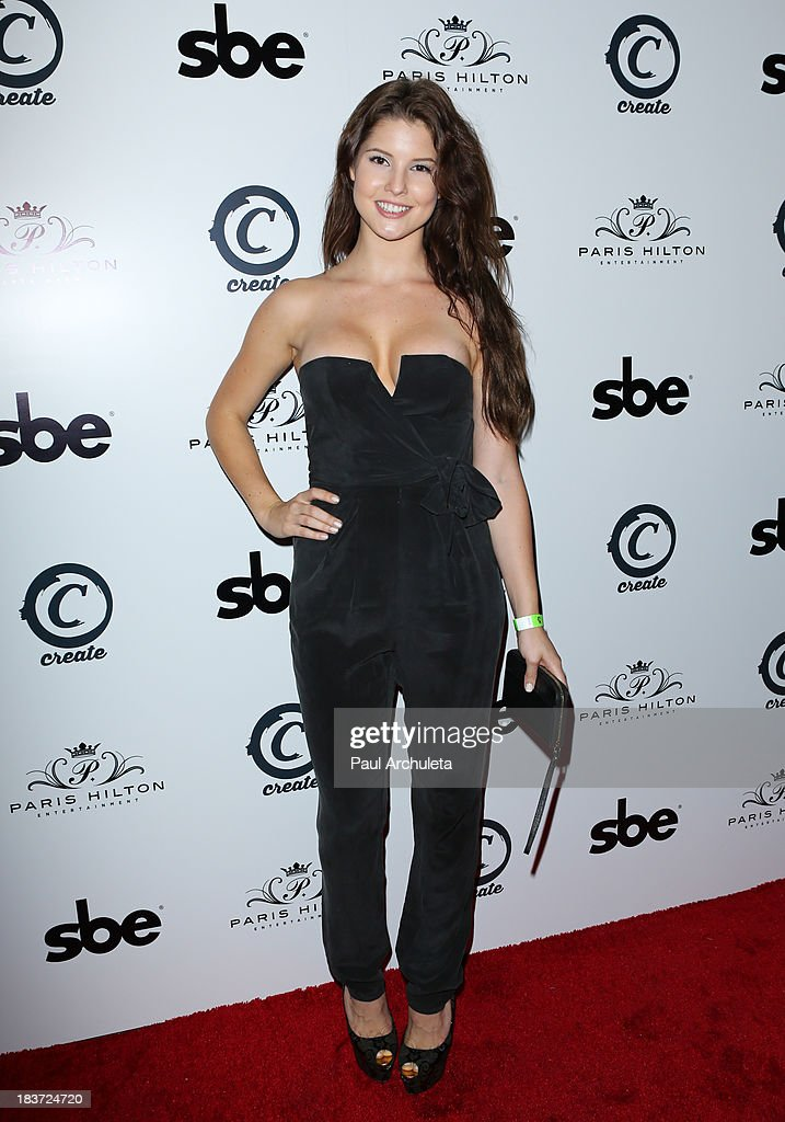 Playboy Playmate Amanda Cerny arrives for the release party for <a gi-track='captionPersonalityLinkClicked' href=/galleries/search?phrase=Paris+Hilton&family=editorial&specificpeople=171761 ng-click='$event.stopPropagation()'>Paris Hilton</a>'s new single 'Good Time' featuring Lil Wayne at on October 8, 2013 in Hollywood, California.