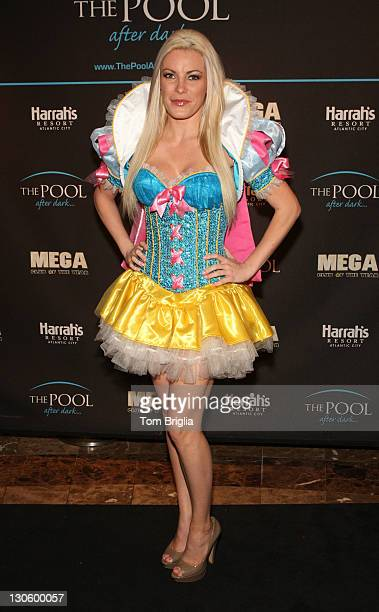 Playboy Playmate Crystal Harris hosts The Pool After Dark at Harrah's Resort on Wednesday October 26 2011 in Atlantic City New Jersey
