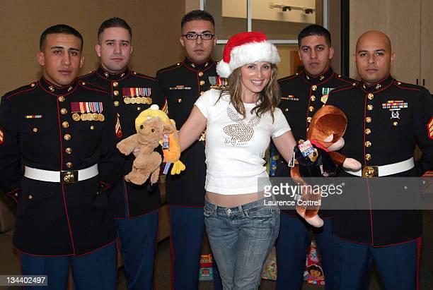 Playboy Playmate Deanna Brooks with members of The United States Marines *Exclusive*