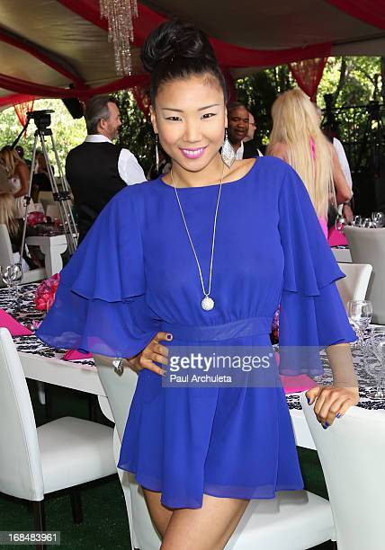 Playboy Playmate Hiromi Oshima attends the 2013 Playmate Of The Year announcement at The Playboy Mansion on May 9 2013 in Beverly Hills California