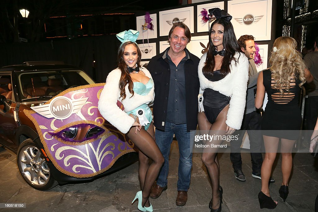 Playboy Playmate of the year Jaclyn Swedberg, chef John Besh and Playmate Summer Altice attend The Playboy Party Presented by Crown Royal on February 1, 2013 in New Orleans, Louisiana.