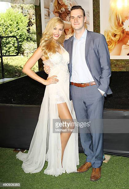 Playboy Playmate of the Year Kennedy Summers and Cooper Hefner attend Playboy's 2014 'Playmate Of The Year' announcement held at The Playboy Mansion...