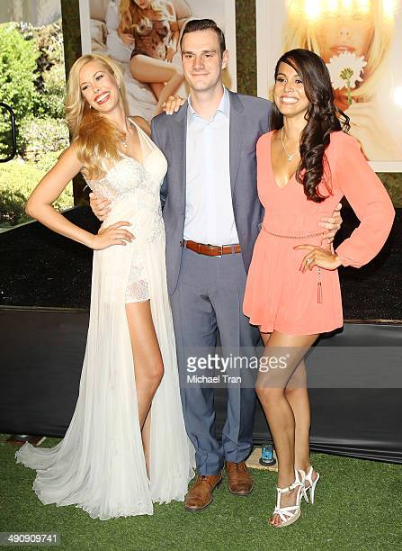 Playboy Playmate of the Year Kennedy Summers Cooper Hefner and Raquel Pomplun attend Playboy's 2014 'Playmate Of The Year' announcement held at The...