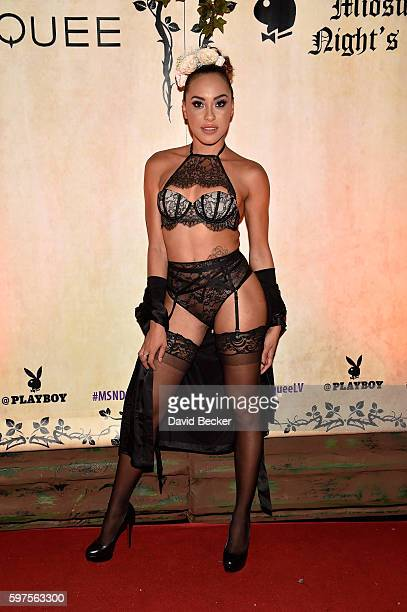 Playboy Playmate Shanice Jordyn attends the Playboy Midsummer Night's Dream party at the Marquee Nightclub at The Cosmopolitan of Las Vegas on August...