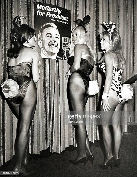 Playboy Playmates during McCarthy Fundraising Dinner and Party at The Playboy Club in Beverly Hills California United States
