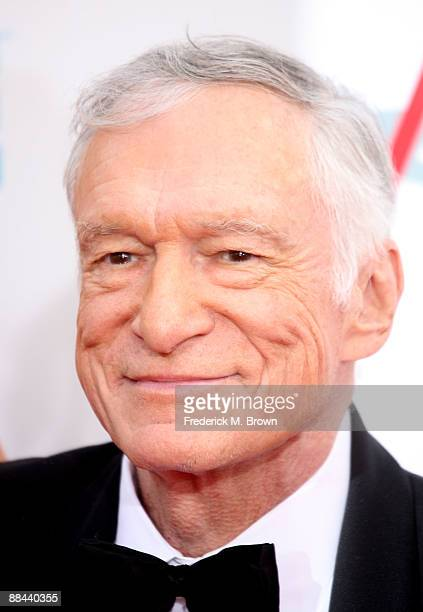 Playboy publisher Hugh Hefner arrives at AFI Lifetime Achievement Award A Tribute to Michael Douglas held at Sony Pictures Studios on June 11 2009 in...