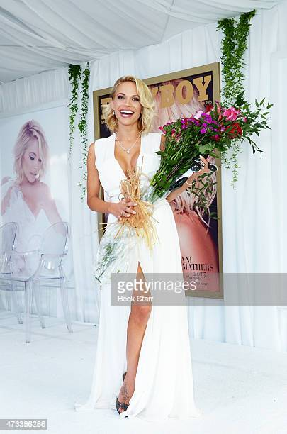 Playboy's 2015 Playmate of the Year Dani Mathers attends Playboy's '2015 Playmate Of The Year' announcement luncheon at The Playboy Mansion on May 14...