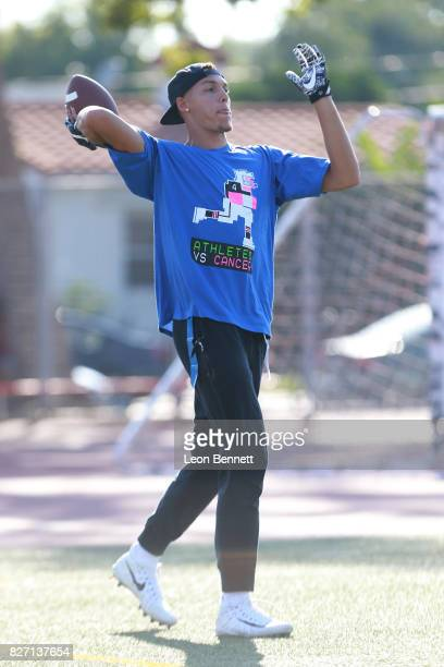 NBA player Aaron Gordon attends Athletes vs Cancer's Celebrity Flag Football Game at John Burroughs High School on August 6 2017 in Burbank California