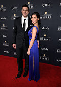 NFL player Aaron Rodgers and actress Olivia Munn attend the 4th Annual NFL Honors at Phoenix Convention Center on January 31 2015 in Phoenix Arizona