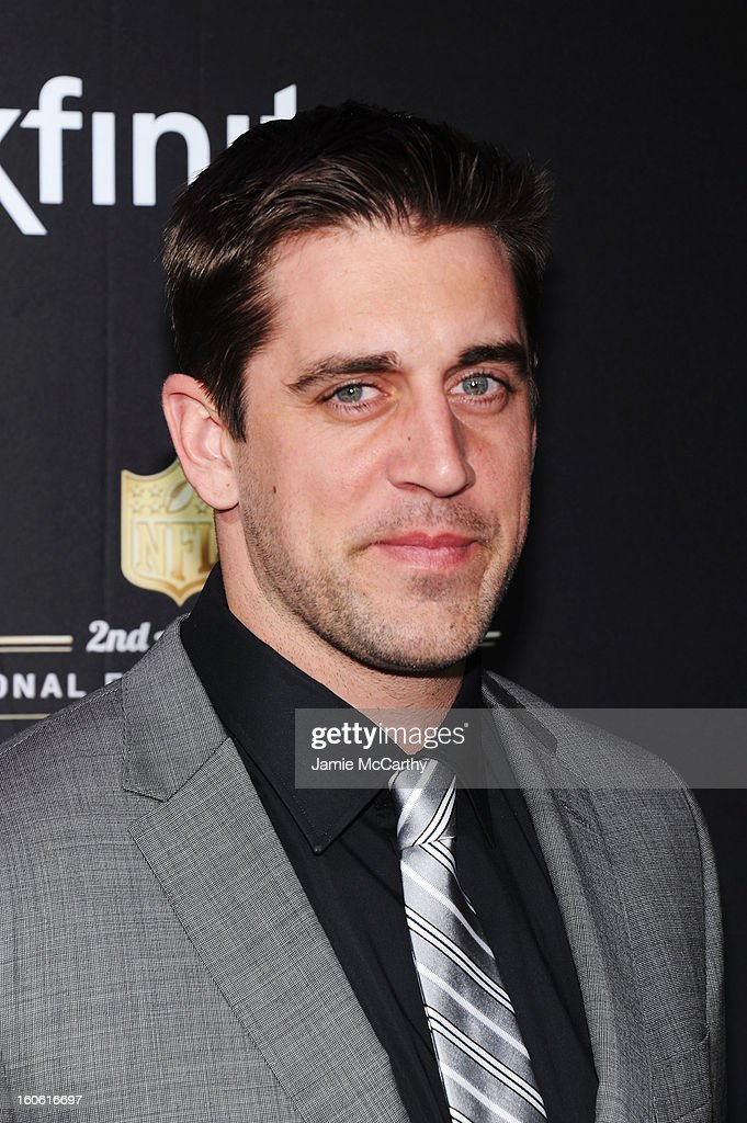 NFL player Aaron Rodgers attends the 2nd Annual NFL Honors at Mahalia Jackson Theater on February 2, 2013 in New Orleans, Louisiana.