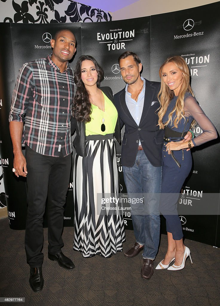 NBA player Al Horford, actress Amelia Vega, tv personalities Bill Rancic and Giuliana Rancic attend the Mercedes-Benz 2015 Evolution Tour on August 4, 2015 in Los Angeles, California.