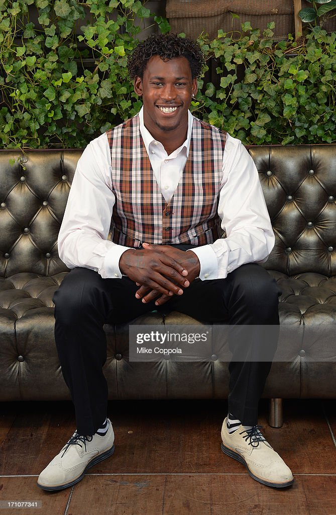 Player Aldon Smith Portrait Session on June 21 2013 in New York City