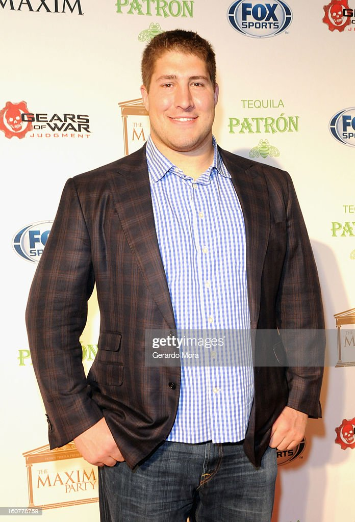 NFL player Alex Mack attends The Maxim Party With 'Gears of War: Judgment' For XBOX 360, FOX Sports & Starter Presented by Patron Tequila at Second Line Warehouse on February 1, 2013 in New Orleans, Louisiana.