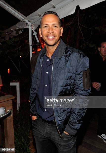 MIAMI BEACH FL FEBRUARY 06 MLB Player Alex Rodriguez attends the Super Bowl Party hosted by Creative Artists Agency at the W Hotel South Beach on...
