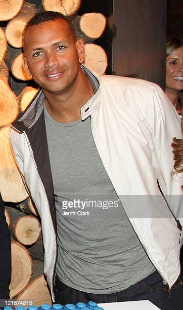 MLB player Alex Rodriguez attends the Yankees Unite for Tornado Relief benefit at Southern Hospitality on August 22 2011 in New York City