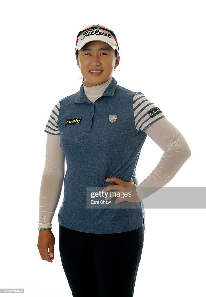 LPGA player Amy Yang of South Korea poses for a portrait prior to the start of the Founders Cup at the JW Marriott Desert Ridge Resort on March 18...