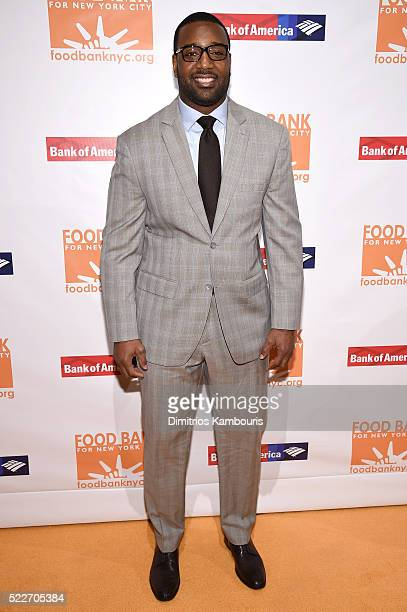 NFL player and Food Bank ambassador Chris Canty attends the Food Bank Of New York City's Can Do Awards 2016 hosted by Mario Batali at Cipriani Wall...