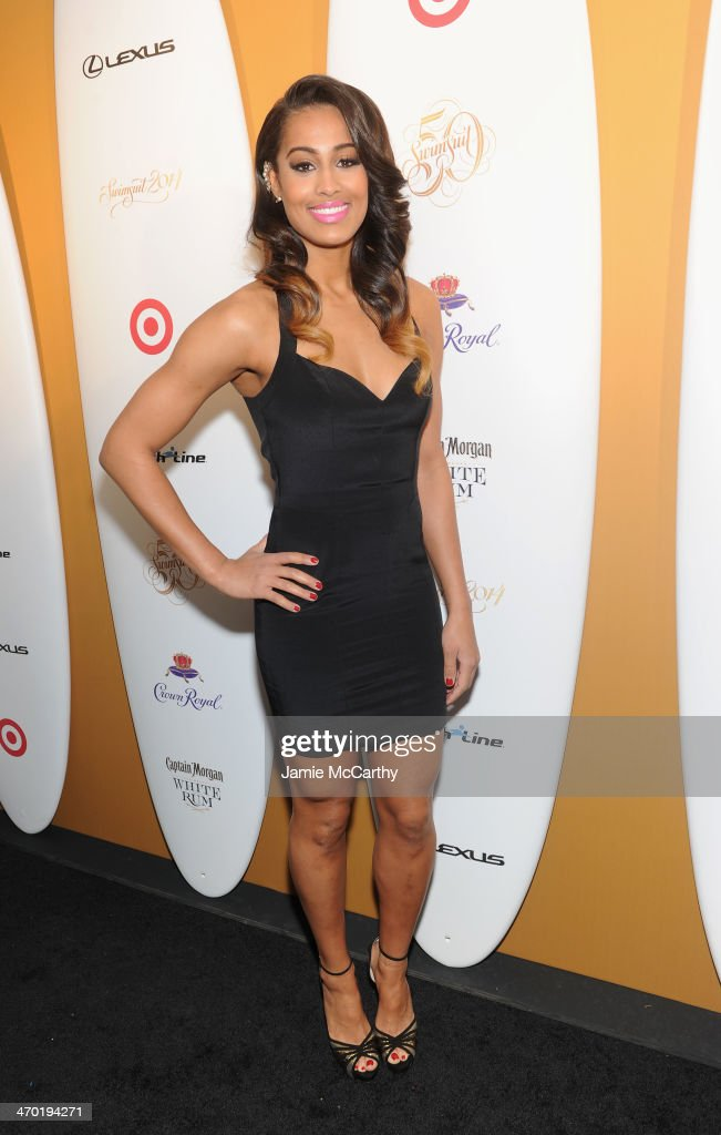 WNBA player and model <a gi-track='captionPersonalityLinkClicked' href=/galleries/search?phrase=Skylar+Diggins&family=editorial&specificpeople=5791961 ng-click='$event.stopPropagation()'>Skylar Diggins</a> attends the Sports Illustrated Swimsuit 50 Years of Swim in NYC Celebration at the Sports Illustrated Swimsuit Beach House on February 18, 2014 in New York City.