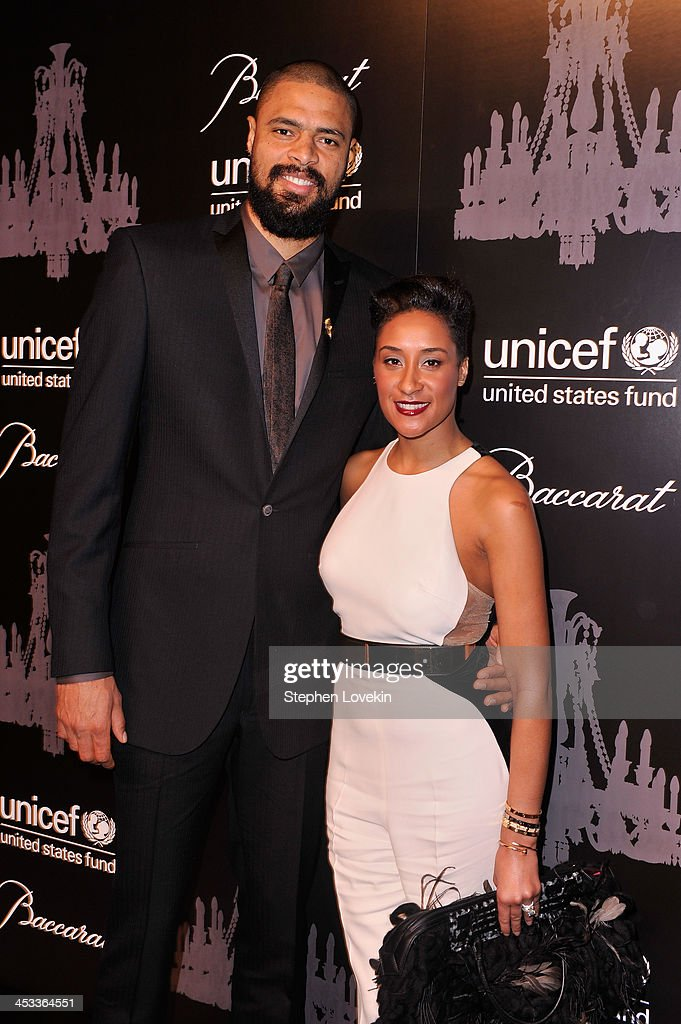 NBA player and UNICEF Ambassador <a gi-track='captionPersonalityLinkClicked' href=/galleries/search?phrase=Tyson+Chandler&family=editorial&specificpeople=202061 ng-click='$event.stopPropagation()'>Tyson Chandler</a> and Kimberly Chandler attend The Ninth Annual UNICEF Snowflake Ball at Cipriani, Wall Street on December 3, 2013 in New York City.