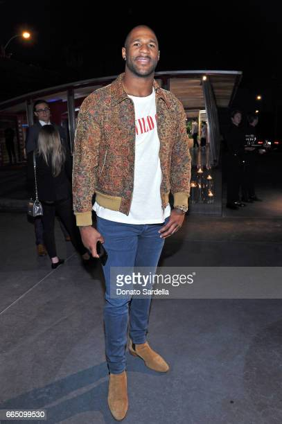 NFL player Andre Branch attends DIOR SS17 Collection Launch at Maxfield on April 5 2017 in Los Angeles California