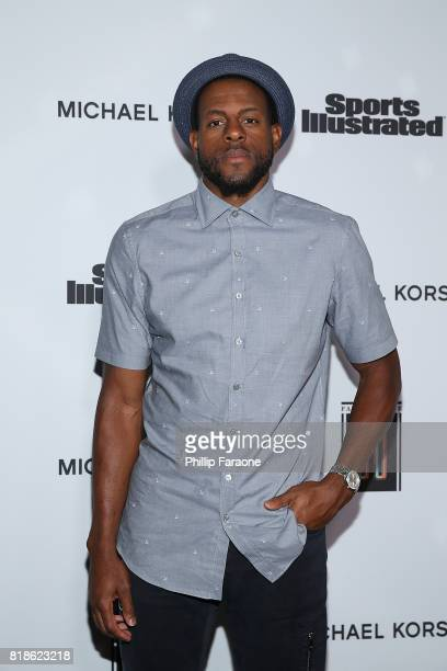 NBA player Andre Iguodala attends the Sports Illustrated Fashionable 50 at Avenue on July 18 2017 in Los Angeles California