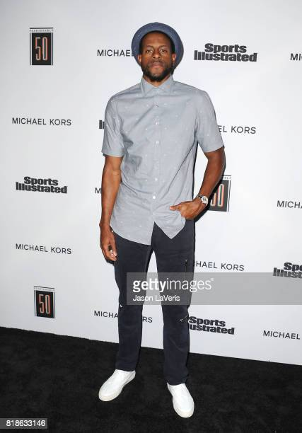 NBA player Andre Iguodala attends the Sports Illustrated Fashionable 50 event at Avenue on July 18 2017 in Los Angeles California