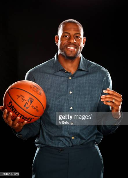 NBA player Andre Iguodola poses for a portrait at NBPA Headquarters on June 23 2017 in New York City
