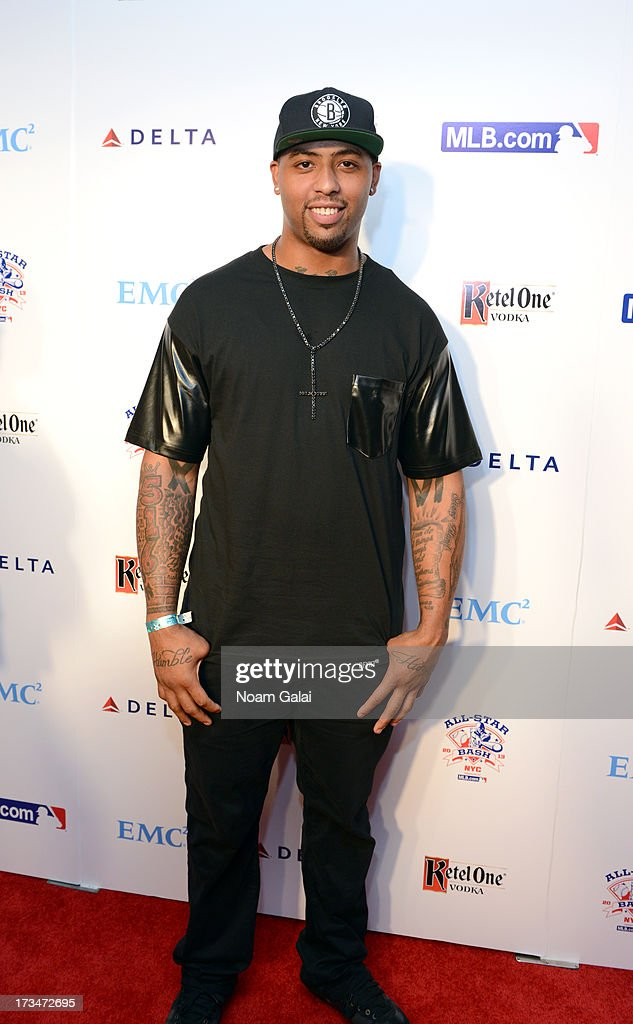 NFL player Andrew Quarless attends Major League Baseball's All Star Bash at Roseland Ballroom on July 14, 2013 in New York City.