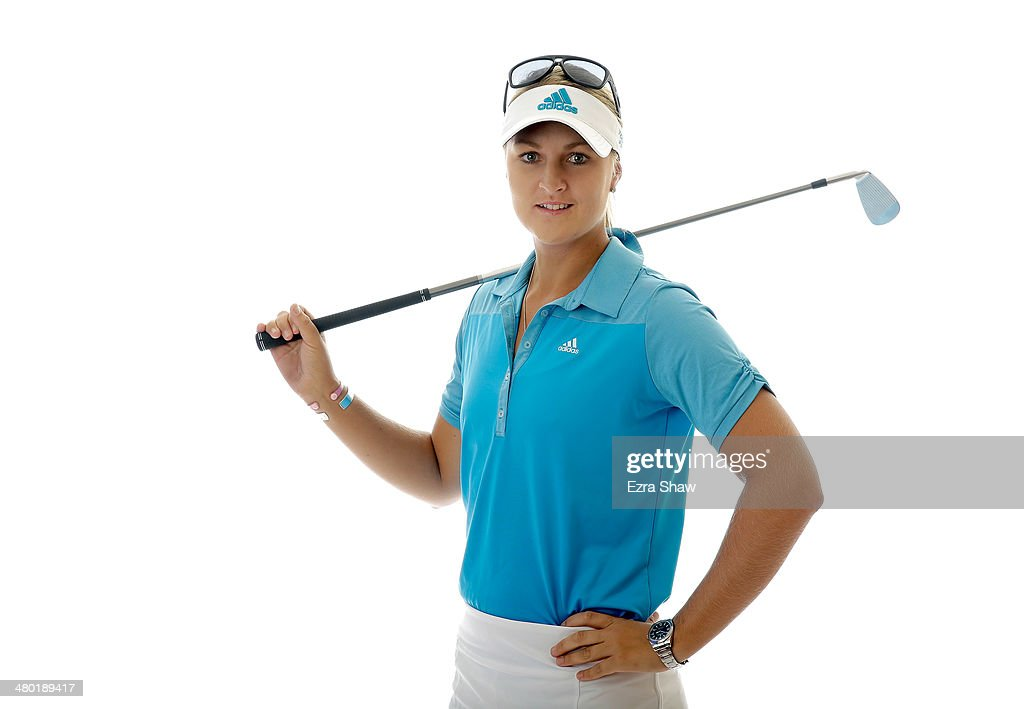 LPGA player Anna Nordqvist of Sweden poses for a portrait prior to the start of the Founders Cup at the JW Marriott Desert Ridge Resort on March 19...