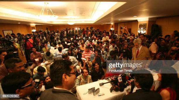 Player Auction Priety Zinta addressing media during IPL Players' auction at Hilton Tower on Wednesday