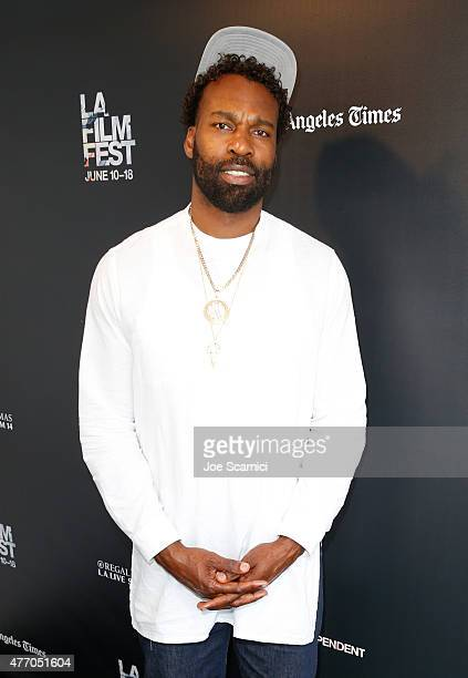 NBA player Baron Davis attends 'The Drew' screening during the 2015 Los Angeles Film Festival at Regal Cinemas LA Live on June 13 2015 in Los Angeles...