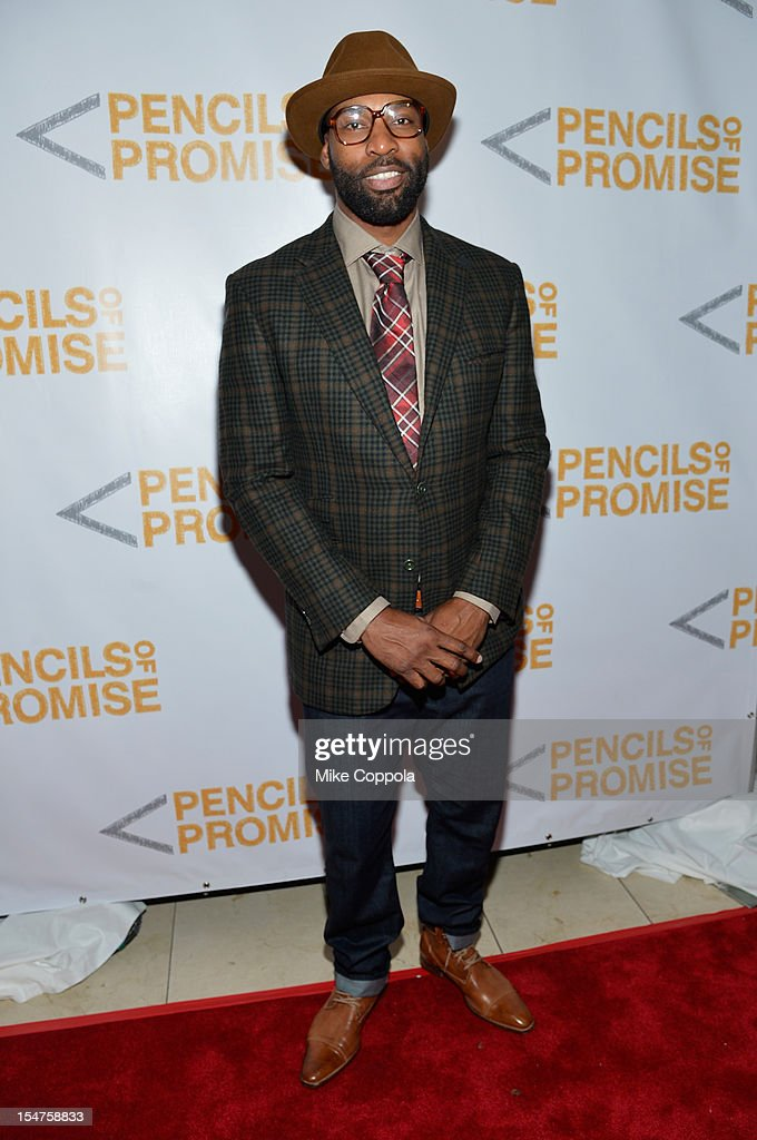 NBA player <a gi-track='captionPersonalityLinkClicked' href=/galleries/search?phrase=Baron+Davis&family=editorial&specificpeople=201592 ng-click='$event.stopPropagation()'>Baron Davis</a> attends the second annual Pencils of Promise Gala at Guastavino's on October 25, 2012 in New York City.