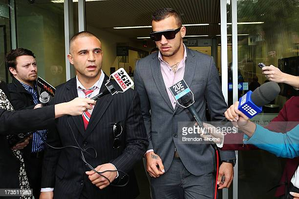 NRL player Blake Ferguson leaves Waverley Court on July 16 2013 in Sydney Australia Ferguson has been charged with indecent assault