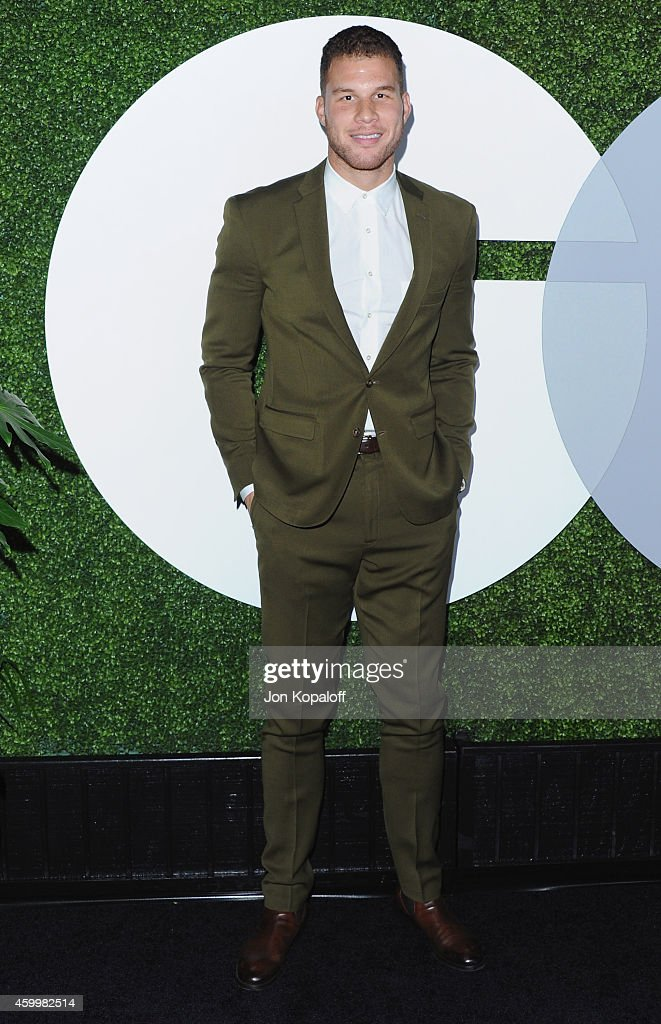 NBA player <a gi-track='captionPersonalityLinkClicked' href=/galleries/search?phrase=Blake+Griffin&family=editorial&specificpeople=4216010 ng-click='$event.stopPropagation()'>Blake Griffin</a> arrives at the 2014 GQ Men Of The Year Party at Chateau Marmont on December 4, 2014 in Los Angeles, California.