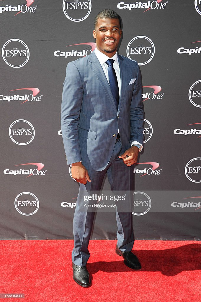 NFL player Brad Smith arrives at the 2013 ESPY Awards at Nokia Theatre L.A. Live on July 17, 2013 in Los Angeles, California.