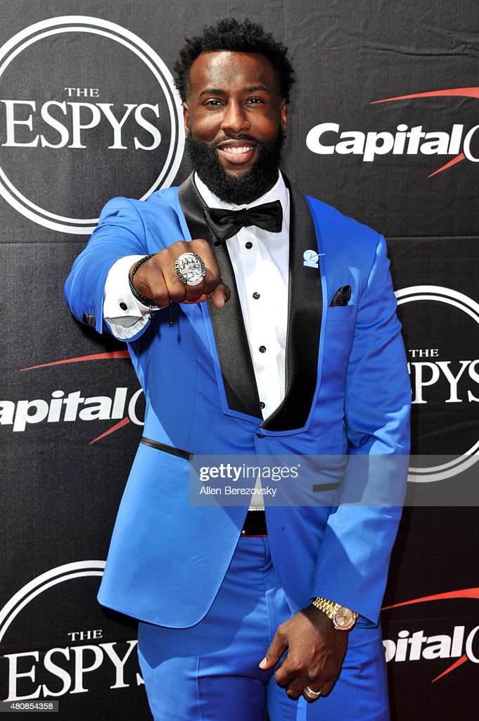 NFL player Brandon LaFell arrives at the 2015 ESPYS at Microsoft Theater on July 15, 2015 in Los Angeles, California.