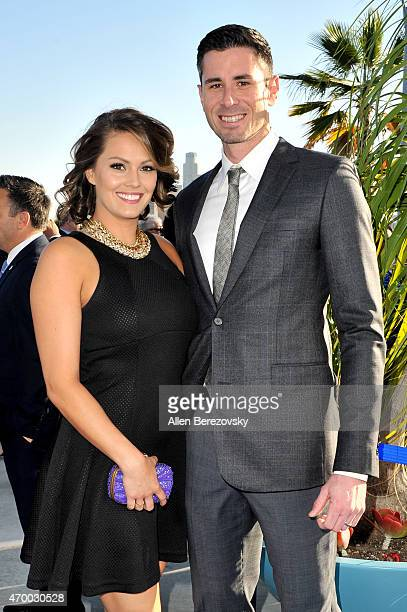 MLB player Brandon McCarthy and Amanda McCarthy attend the Los Angeles Dodgers Foundation Inaugural Blue Diamond Gala with special performance by...