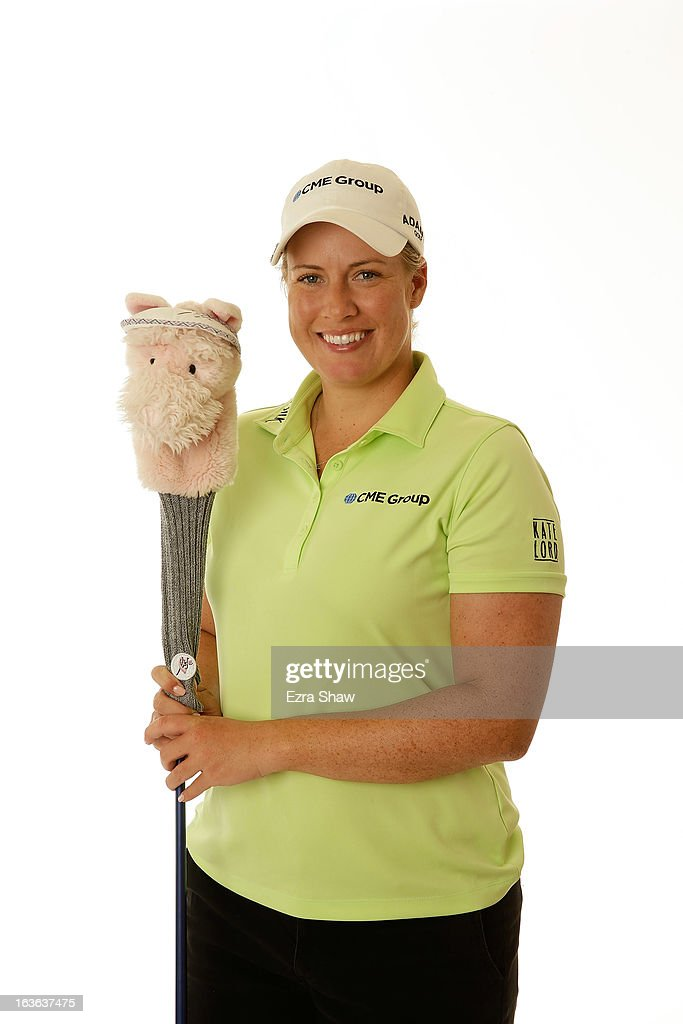 LPGA player <a gi-track='captionPersonalityLinkClicked' href=/galleries/search?phrase=Brittany+Lincicome&family=editorial&specificpeople=685887 ng-click='$event.stopPropagation()'>Brittany Lincicome</a> poses for a portrait prior to the start of the RR Donnelley Founders Cup at the JW Marriott Desert Ridge Resort on March 13, 2013 in Phoenix, Arizona.