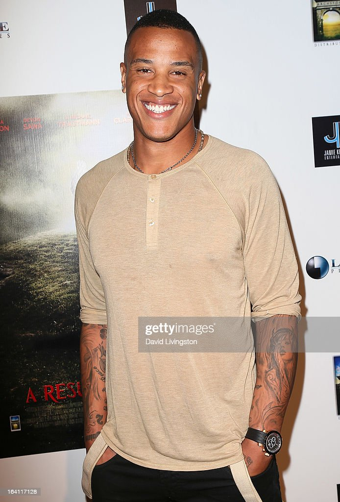 NFL player Bruce Davis attends the premiere of 'A Resurrection' at ArcLight Sherman Oaks on March 19, 2013 in Sherman Oaks, California.