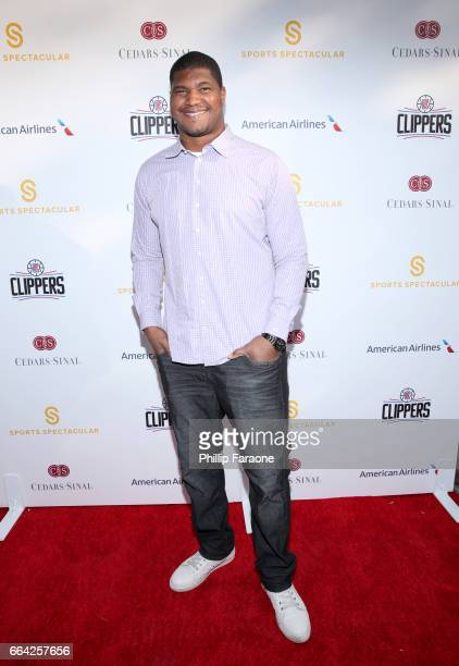 NFL player Calais Campbell attends 32nd Annual CedarsSinai Sports Spectacular at W Los Angeles Westwood on April 3 2017 in Los Angeles California